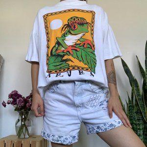 Vintage Rasta Frog Aruba Graphic T-shirt